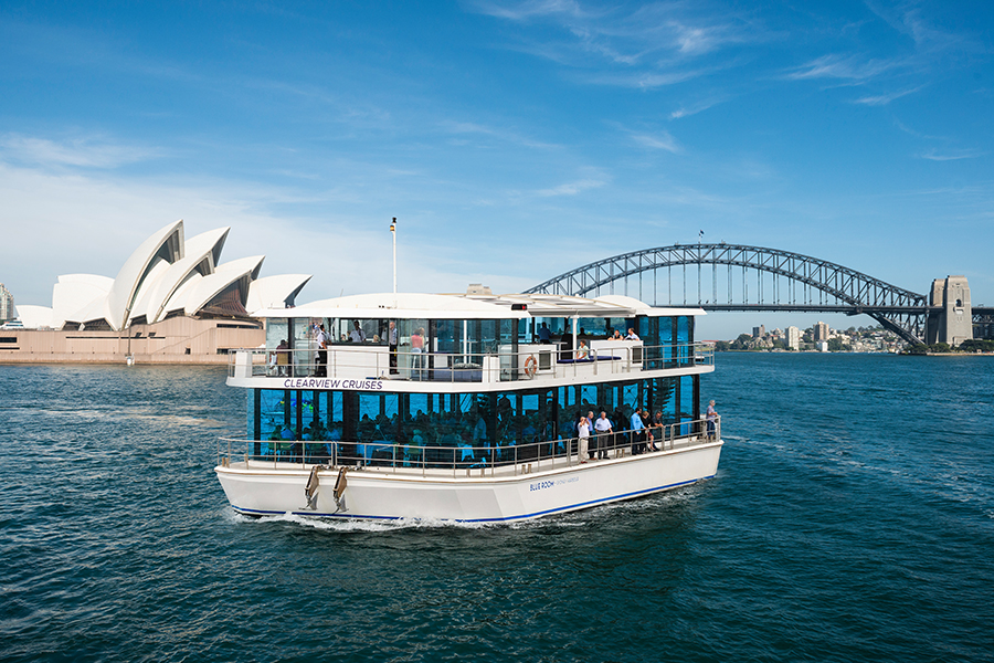Magistic Lunch on Clearview Glass boat cruises